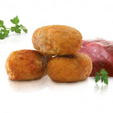 Mini stewed meat croquettes