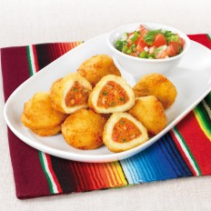 Mexican-style stuffed potato croquettes