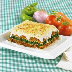 Vegetable lasagne with béchamel sauce