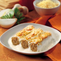 Meat Cannelloni with Béchamel Sauce au Gratin