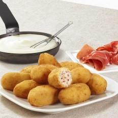 Serrano style ham béchamel croquettes