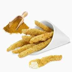 100% Curried chicken fingers