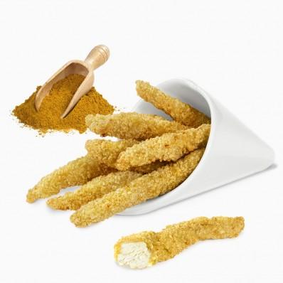 702825 Tiras de pollo al curry frinca