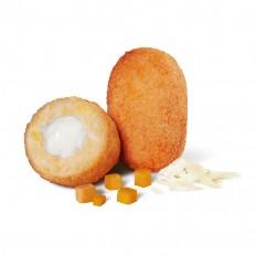 Croquete de abóbora com coração de queijo parmesão