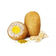 Croqueta de Pollo con Corazón de Curry