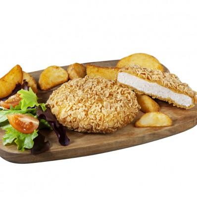 Mini Crispy Burger mit Hähnchen und Gemüse