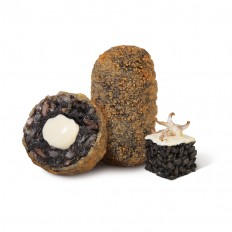 SQUID INK RICE AND AIOLI CROQUETTE