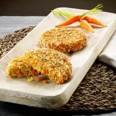 Karotten-Crunchyburger